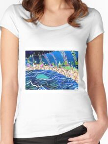 A Splendid Day in a Fishing Village Women's Fitted Scoop T-Shirt