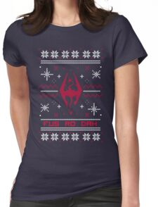 Ugly Sweater Skyrim Womens Fitted T-Shirt