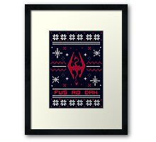 Ugly Sweater Skyrim Framed Print