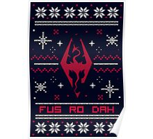 Ugly Sweater Skyrim Poster