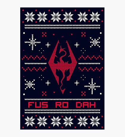Ugly Sweater Skyrim Photographic Print