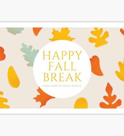 Fall Break from Student Senate Sticker