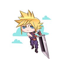 Cloud Strife Chibi Photographic Print
