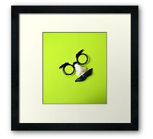 Funny Face Disguise Glasses and Mustache Framed Print