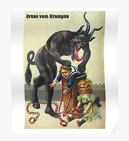 Gruss Vom Krampus Greetings From Christmas Demon  Poster