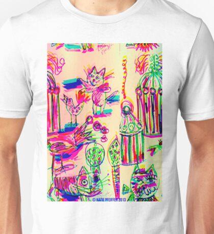 Pop Art Birds Cats Unisex T-Shirt