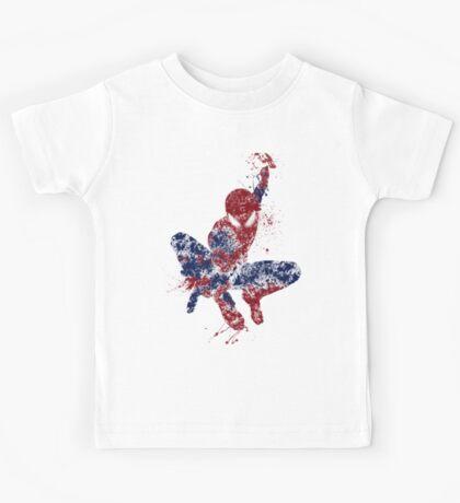 Spider-Man Splatter Art Color Kids Tee