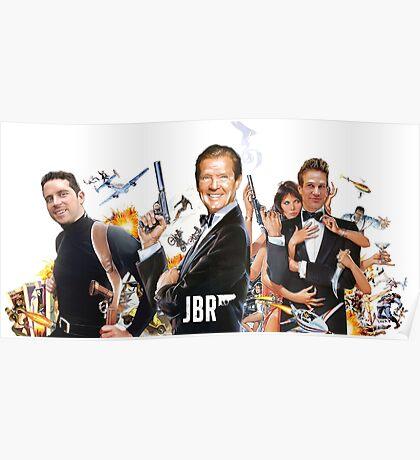 Roger Moore on James Bond Radio Poster
