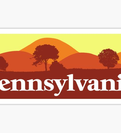 Scenic Pennsylvania Sticker