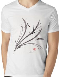 """My Dear Friend""  Original ink and wash ladybug bamboo painting/drawing Mens V-Neck T-Shirt"