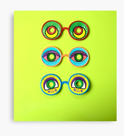 Retro Psychedelic Toy Glasses Canvas Print