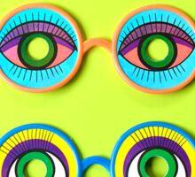 Retro Psychedelic Toy Glasses Sticker