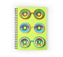 Retro Psychedelic Toy Glasses Spiral Notebook