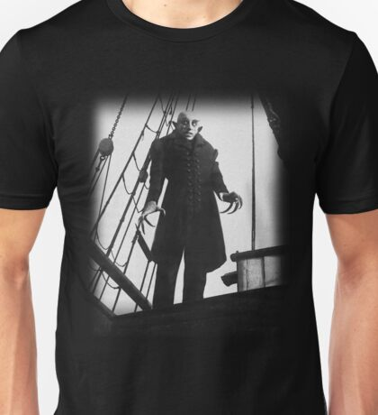 Nosferatu Symphony of Horror Vampire Graphic Design Unisex T-Shirt