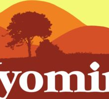 Scenic Wyoming Sticker