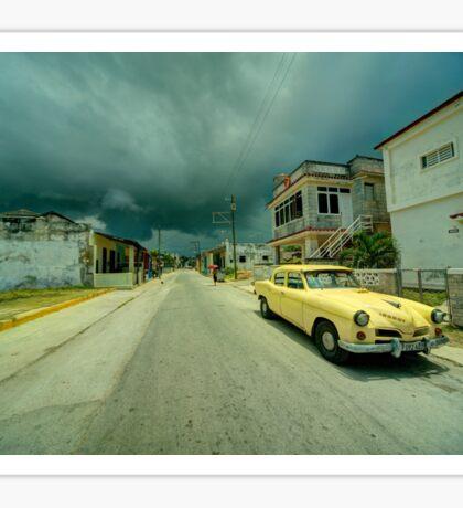 Yellow storm car  Sticker