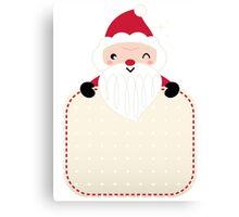 Retro Santa greeting card : vintage red Canvas Print