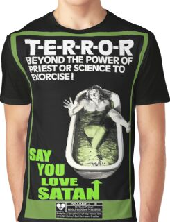 Say You Love Satan 80s Horror Podcast - Cronenberg Graphic T-Shirt