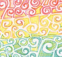 Rainbow swirl heart drawing - 2016 Sticker