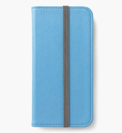Blue leather  iPhone Wallet/Case/Skin