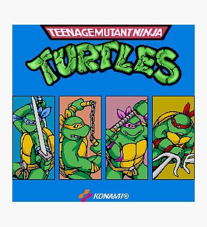 Teenage Mutant Ninja Turtles 80s Arcade Game Photographic Print