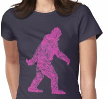 Gone Squatchin in Grunge Distressed Style Womens Fitted T-Shirt