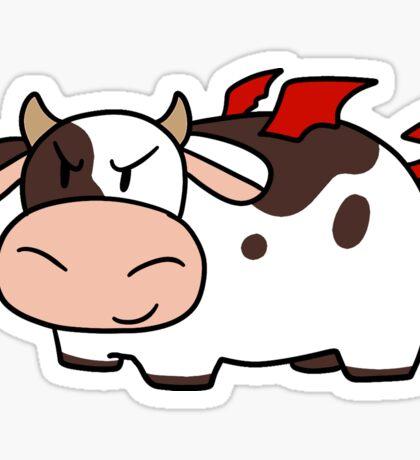 Red Devil Cow Sticker