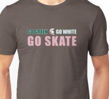 Go Green, Go White, Go Skate (Pink Edition) Unisex T-Shirt