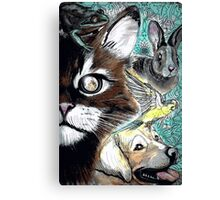 Tails from the Other Side: Proceeds to benefit Animal Rescue Canvas Print