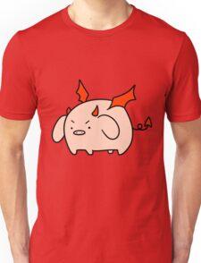 Red Devil Pig Unisex T-Shirt