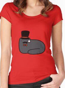 Dapper Cat Women's Fitted Scoop T-Shirt