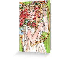The Angel Of Carols Greeting Card