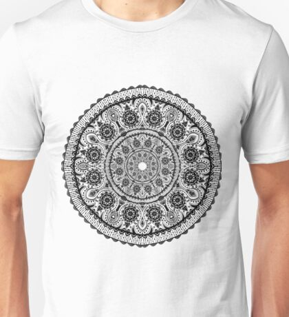 Black Lace mandala Unisex T-Shirt