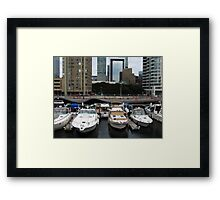 Looking Downtown Framed Print