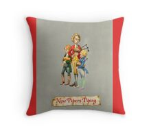 Nine Pipers Piping Throw Pillow
