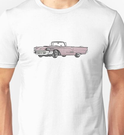 1958 Ford Thunderbird convertible Unisex T-Shirt