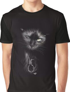 """Tribute to """"The Black Cat"""" by Edgar Allan Poe Graphic T-Shirt"""