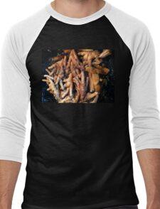 Frying Chicken Feet Men's Baseball ¾ T-Shirt