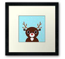 New in shop : reindeer Art edition / blue Framed Print