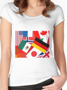 World Showcase Women's Fitted Scoop T-Shirt