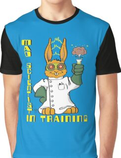 Mad Scientist In Training Bunny Graphic T-Shirt