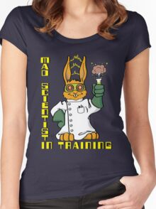 Mad Scientist In Training Bunny Women's Fitted Scoop T-Shirt
