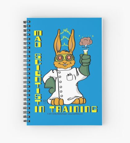 Mad Scientist In Training Bunny Spiral Notebook