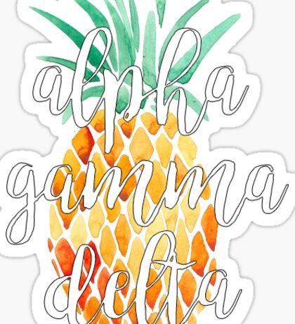 Alpha Gamma Delta Pineapple Sticker