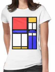 Color Block TARDIS Womens Fitted T-Shirt