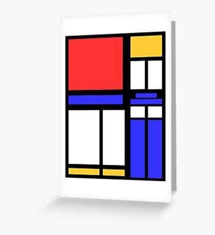 Color Block TARDIS Greeting Card