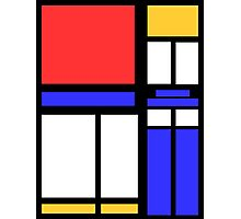 Color Block TARDIS Photographic Print
