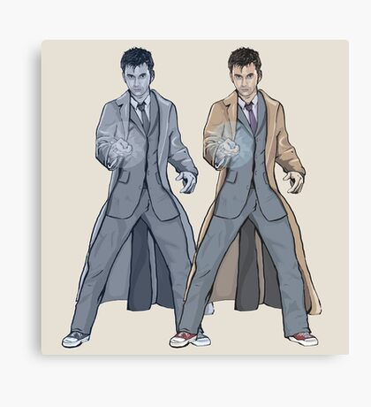 Dr Who Ten- Warhol Style Canvas Print