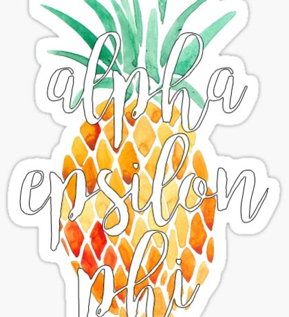 Alpha Epsilon Phi Pineapple Sticker