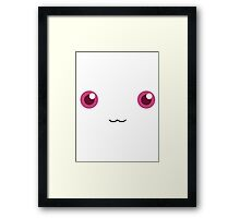 Kyubey - No Background Framed Print